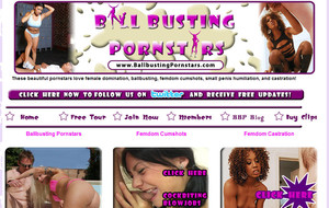 Ball Busting Pornstars