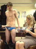 naked-skinny-boy-gets-his-overloaded-dick-stroked-by-three-curious-clothed-ladies