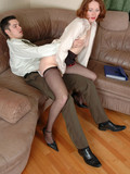 redhead-secretary-gets-her-asshole-fucked-and-takes-cumshot-on-her-sexy-black-pantyhose