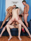 horny-mature-redhead-gets-gangbanged-by-four-sex-hungry-dudes-on-the-couch