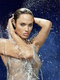 Check out sexy photos of breathtakingly beautiful brunette celebrity Angelina Jolie