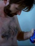 See the male celeb David Tennant showering himself and walking naked in the room