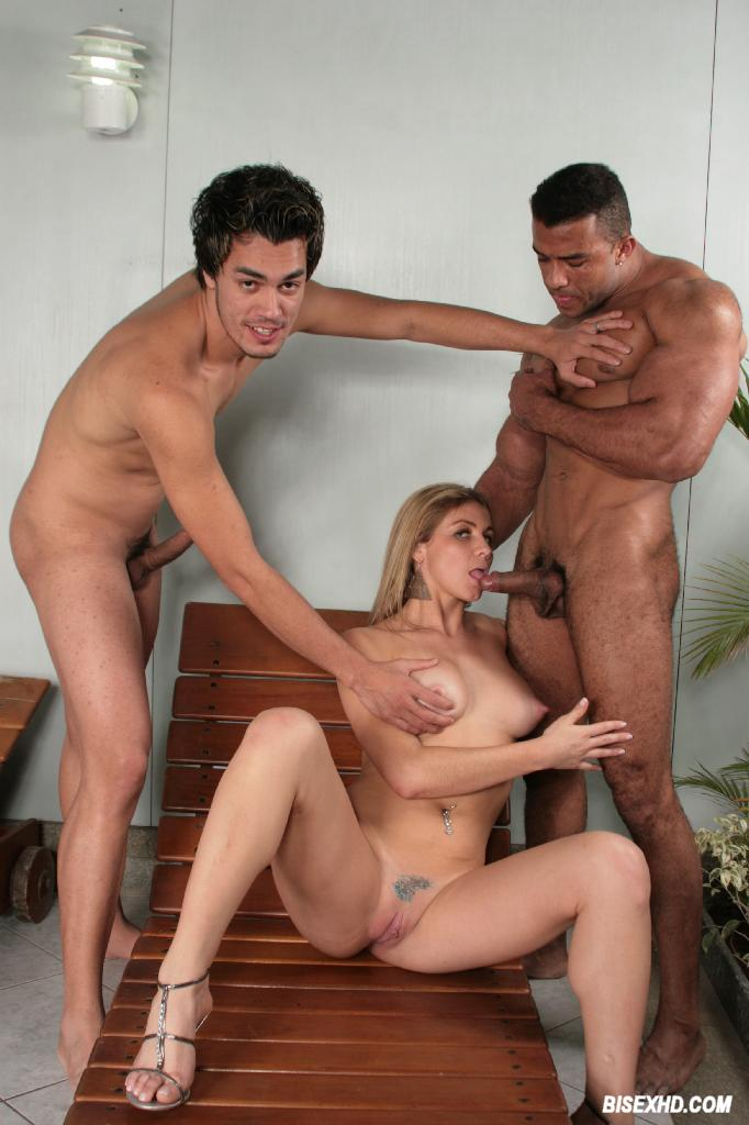 Threesome Of Gay Latinos And Black