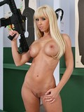 big-titty-blonde-with-gun-gets-her-shaved-pussy-filled-with-her-red-panties-on