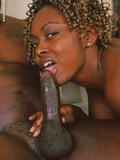 Curly haired black slut with small tits gets her brown pussy fucked deep