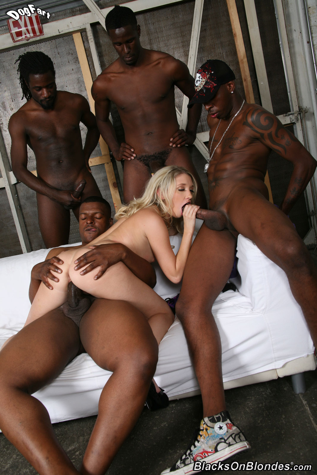 Wife breeding black on blonde cum shots