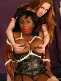 white-lesbian-dominatrix-takes-care-of-black-slave-s-big-breasts-and-meaty-pussy
