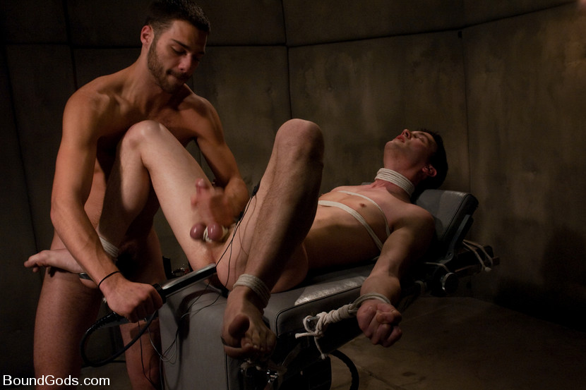 Sexy men tied up and fucked