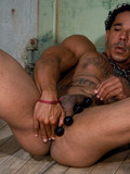 tattooed-bronze-skinned-guy-with-adorable-body-gets-his-sexy-ass-attacked-with-dildo