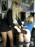 long-haired-chick-with-no-panties-gets-her-ass-ruthlessly-spanked-by-lady-in-smart-suit