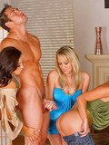 fully-nude-boy-gets-his-dick-touched-and-sucked-by-two-clothed-blondes-and-one-brunette