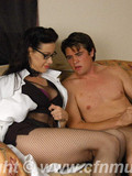 naked-dude-jerks-his-penis-in-front-of-interested-four-eyed-lady-doctor