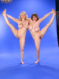 two-flexible-chubby-women-with-massive-tits-remove-their-lingerie-and-do-exercises