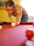 topless-gay-friends-spend-free-time-in-the-middle-of-the-day-playing-pool