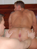 Young hunks suck and fuck each other non-stop with passion on a massage table