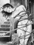 nude-drawn-brunette-in-rope-bondage-shows-her-body-lines-as-she-s-totally-helpless