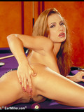 charming-heartbreaker-exposes-her-snatch-and-rides-dildo-on-a-purple-pool-table