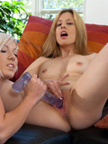 white-haired-lesbian-girl-gets-her-shaved-pink-pussy-fist-fucked-by-her-girlfriend