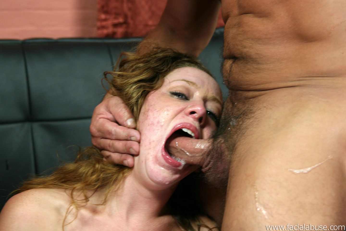 black girl cum facials