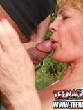 man-in-jeans-gets-his-stiff-cock-out-and-gets-sucked-off-by-blonde-slut-in-the-open-air
