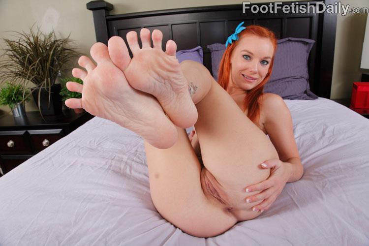 redhead feet