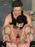 restrained-ballgaggged-slave-brunette-gets-her-pink-hole-pounded-by-her-master