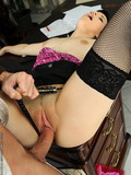 slutty-black-haired-secretary-takes-boss-cock-in-her-loose-shaved-pussy