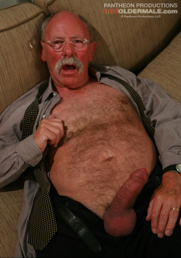four eyed aged man in glasses gets nude showing his hairy belly and