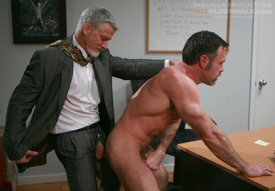 Mature Gay Man In Office Uniform