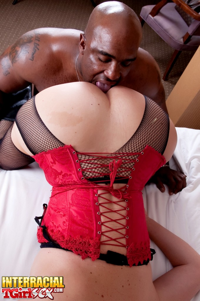 Interracial shemales in corsets