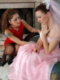 the-horny-bridesmaid-in-red-dress-wants-to-console-the-friend-and-kisses-her-tenderly