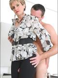 elegant-mature-lady-in-tight-black-leggings-squeezes-nude-guy-s-dick-between-her-legs