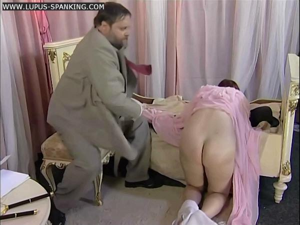 Fat man spank girl