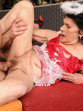 wrinkled-brunette-woman-in-red-lingerie-takes-young-cock-in-her-mature-love-box