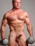 This handsome bodybuilder loves to expose his amazing muscles and cock