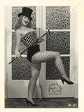 elegant-retro-model-in-fishnet-pantyhose-takes-off-her-corset-and-shows-her-tits