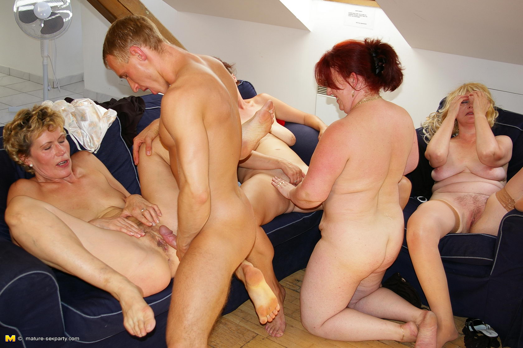 Mature group sex orgy