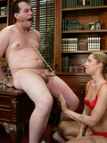 man-gets-his-cock-mercilessly-tortured-by-crazy-blonde-in-red-lingerie