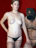 big-titted-mistress-in-nylons-and-thong-punishes-her-masked-hairy-chested-slave