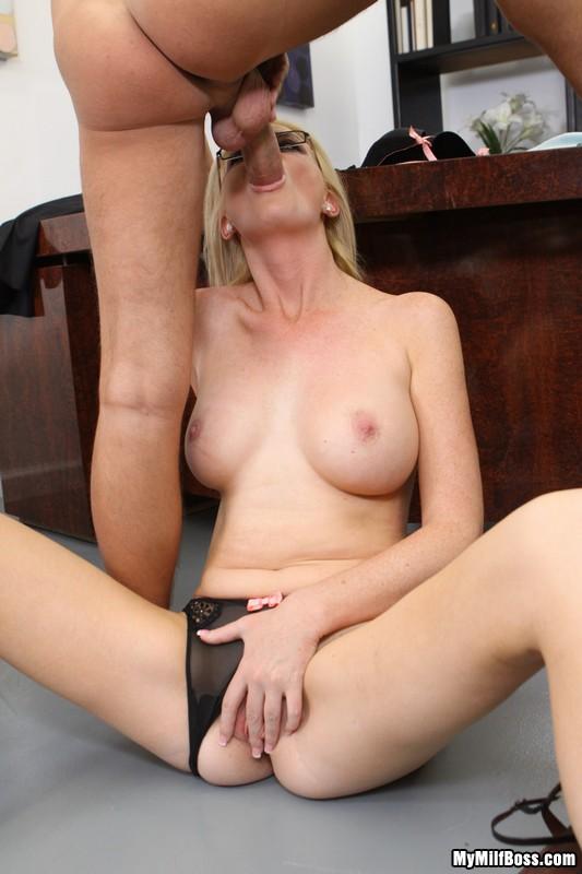 Lonely Milf Boss Spreads Her Legs 19