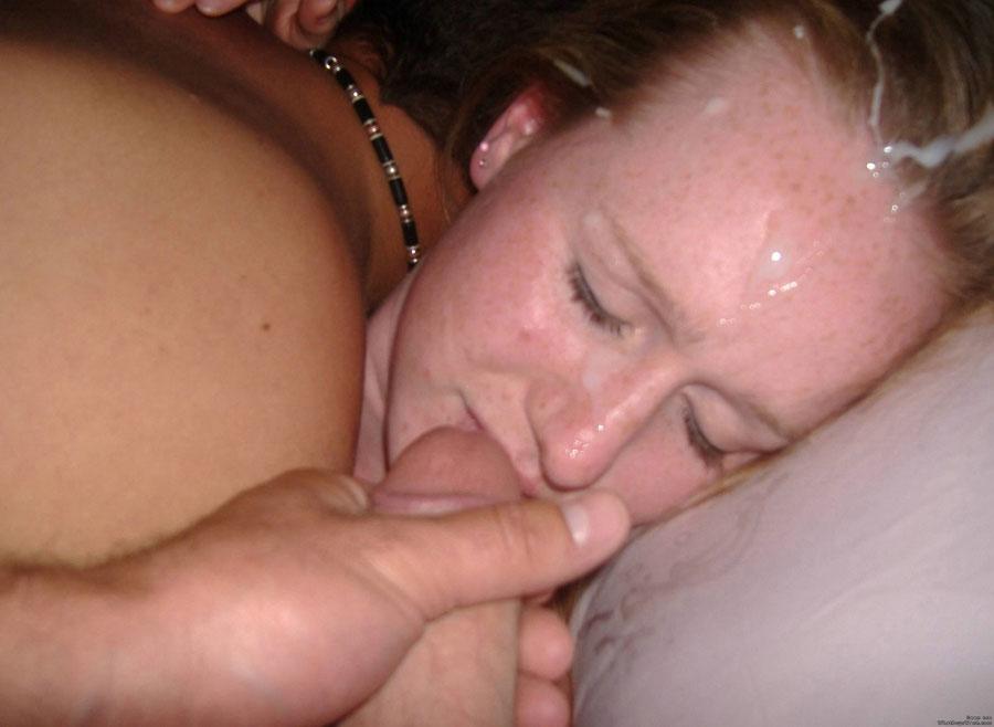My slutty gf sucks bear strippers cock 5