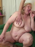 Wrinkled granny has unthinkable sex with her daughter's horny as hell hubby
