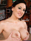 brunette-with-shaved-pink-pussy-and-nicely-shaped-boobies-gets-impaled-on-lucky-cock