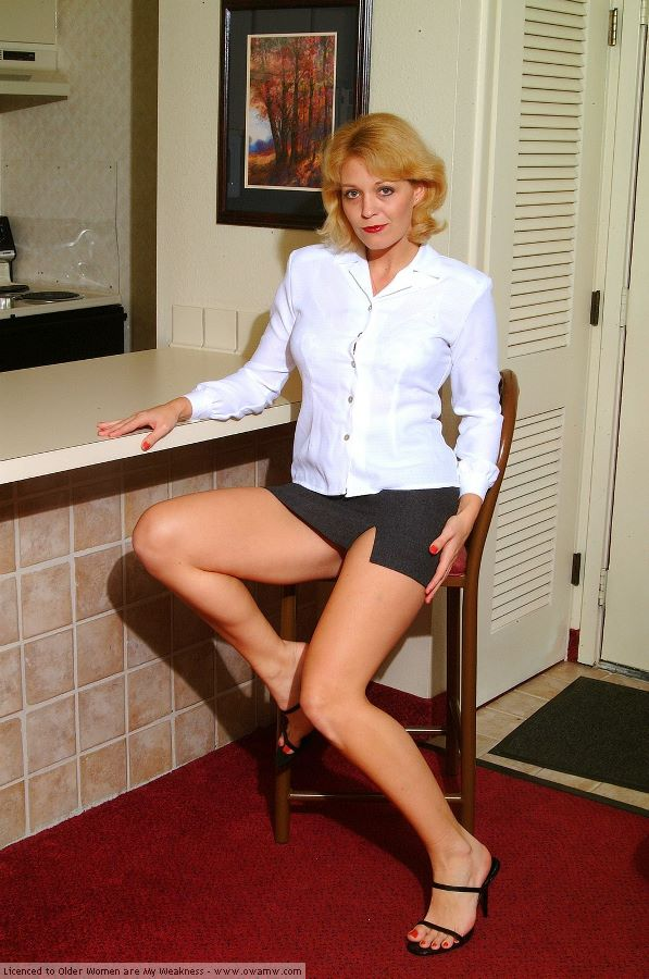 Milf white blouse