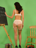 charming-dark-haired-teacher-stripping-out-of-her-uniform-and-lingerie