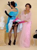 pin-up-brunettes-take-off-their-blue-and-pink-clothes-and-pose-in-stockings