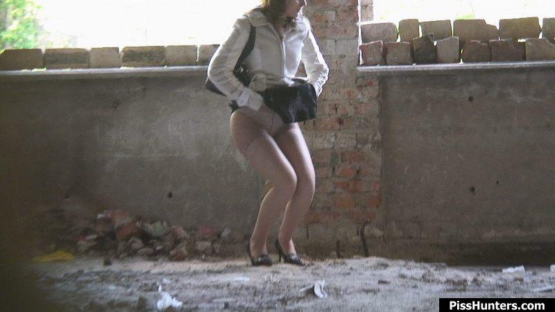 Dress caught in pantyhose