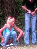 two-girls-pull-down-their-blue-jeans-and-panties-piss-and-wipe-their-pussies-in-front-of-hidden-cam