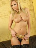 busty-blonde-pornstar-raylene-richards-takes-off-her-golden-dress-and-black-stockings