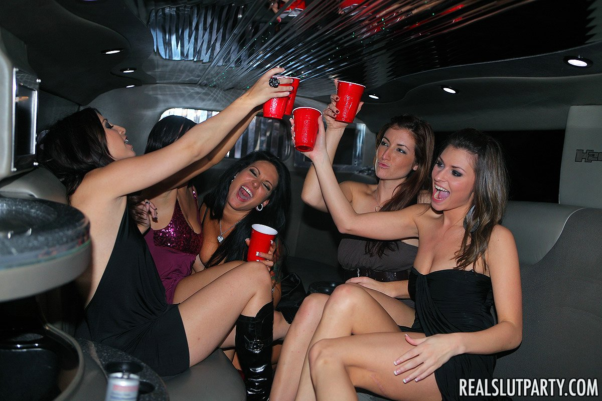 Real slut party limo party starring gina marie and tila - 2 part 7